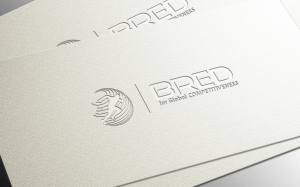 Bred - horizontal logo embossed